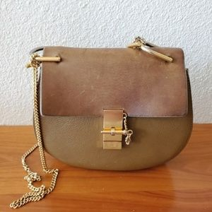 Chloe Drew tan gold Small bag